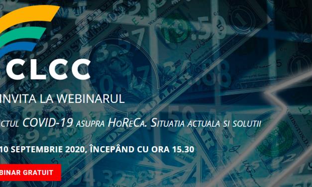 Webinar CLCC: Impactul COVID-19 asupra HoReCa. Situația actuală și soluții.